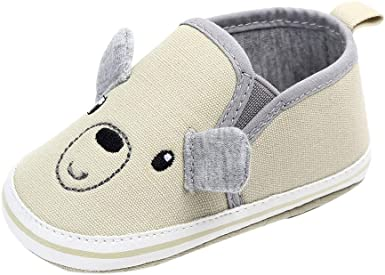 Voberry Newborn Toddler Baby Cartoon Canvas Anti-Slip First Walkers Soft Sole Shoes