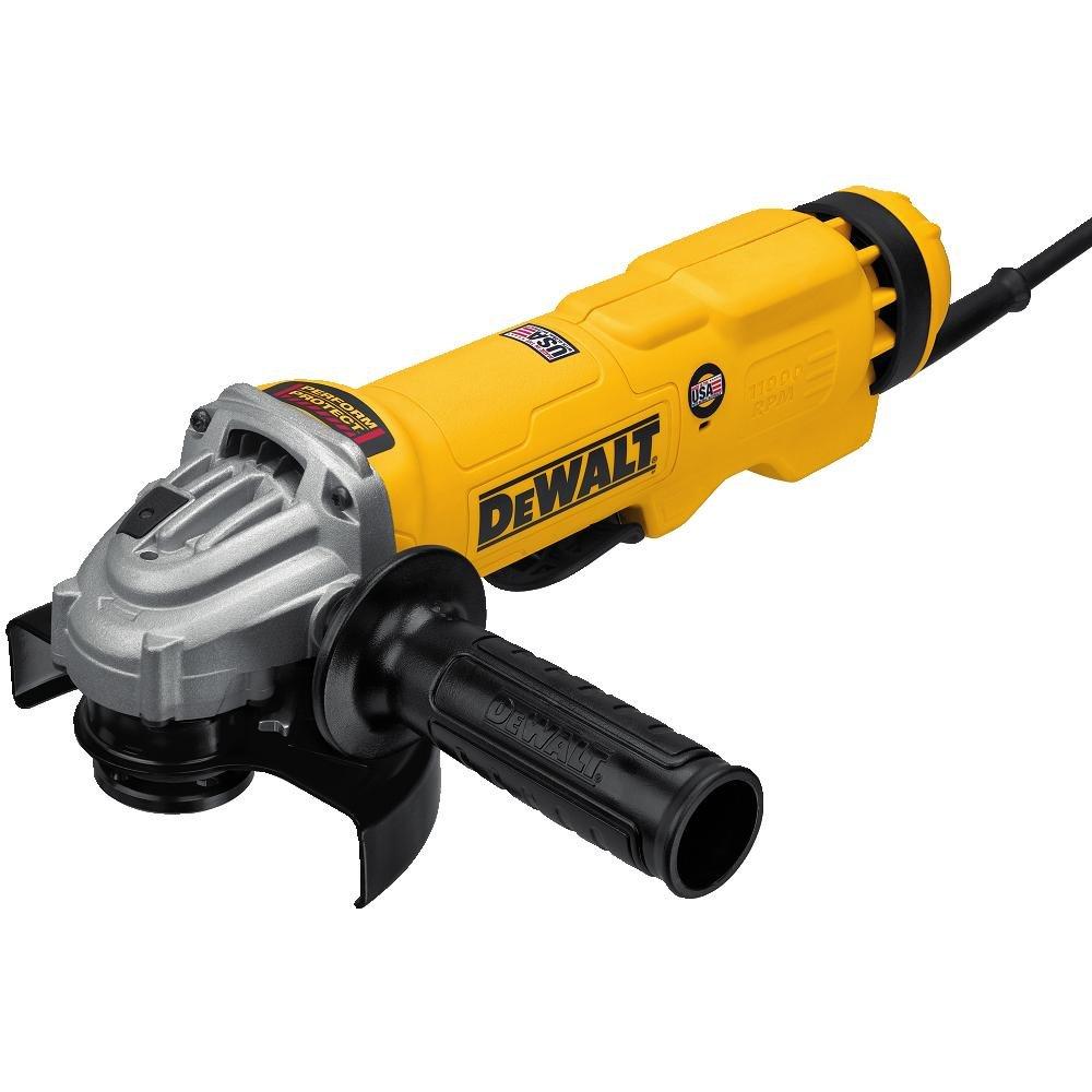 "DEWALT DWE43114N High Performance Paddle Switch Grinder, 4-1/2"" - 5"""