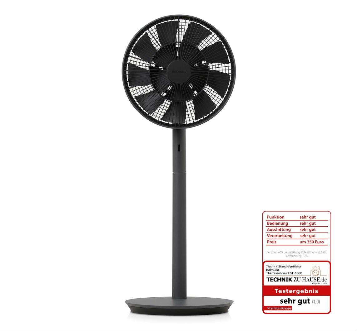 Ventilator-EGF-1600-DK//EU BALMUDA The GreenFan Dunkelgrau x Schwarz