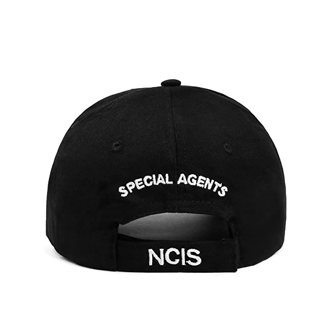 138e4df0438 NCIS Special Agents Cap Naval Criminal Investigative Service Embroidered  Adjustable Cotton Baseball Cap Hat (Black) at Amazon Men s Clothing store