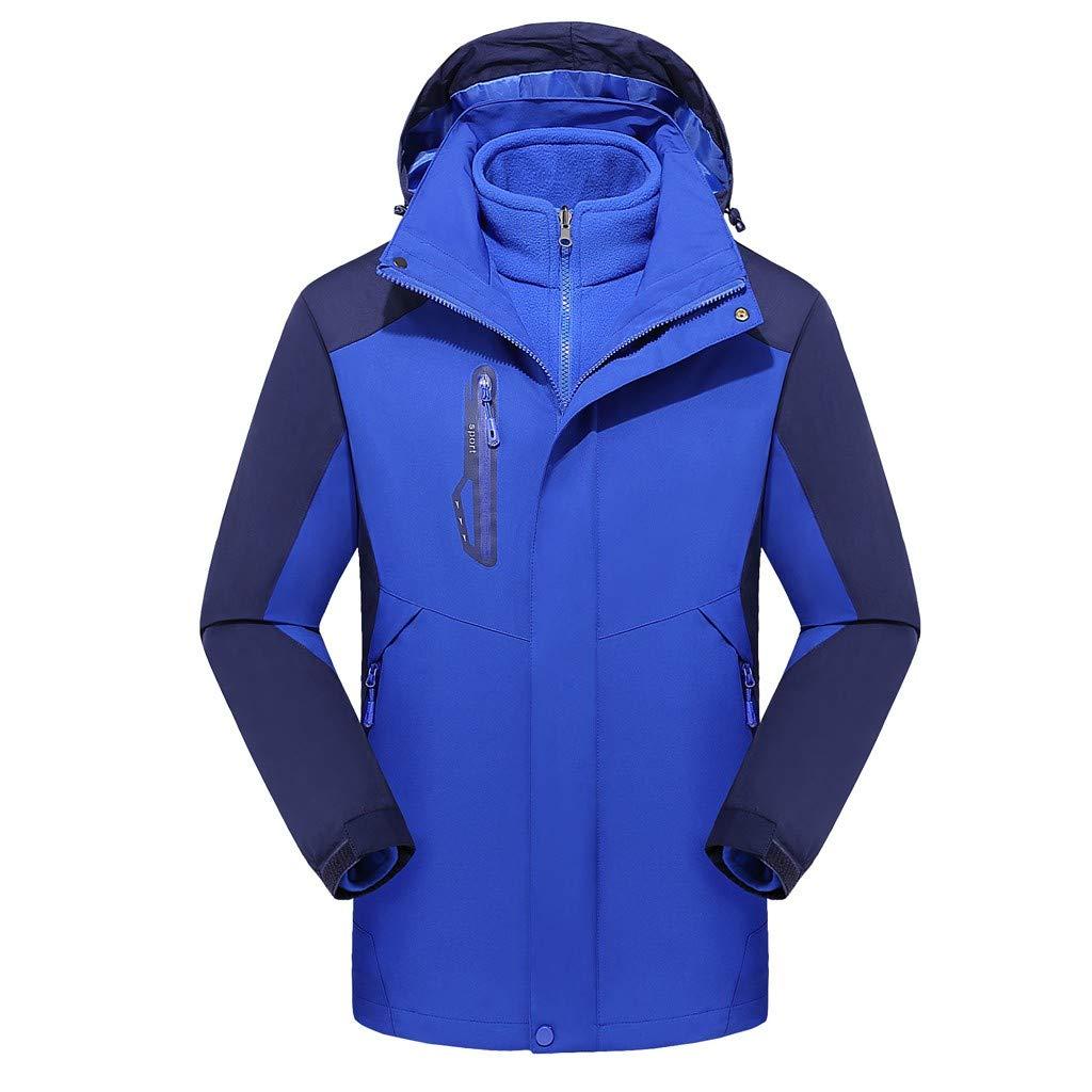 HebeTop Men Women's Mountain Ski Fleece Jacket Waterproof Hat Detachable Winter Outdoor Coat by ▶HebeTop◄➟HOT SALES