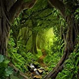 OFILA Fairy Forest Backdrop 6x6ft Magic Trees