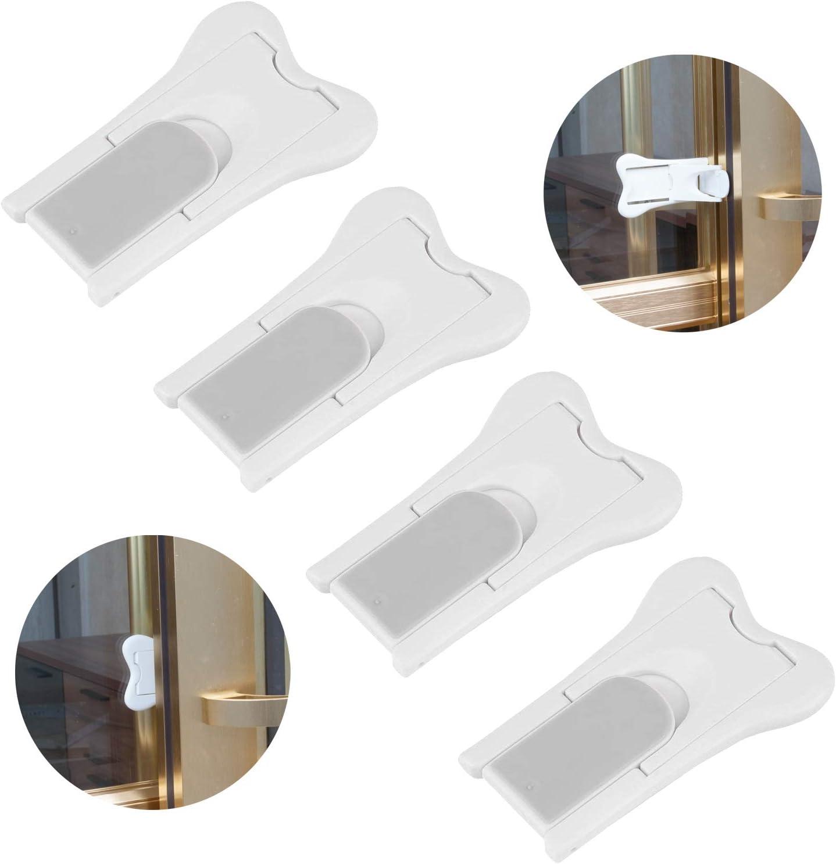 Neuftech Ajustable Bloqueo de Ventanas,Cerradura de Seguridad del beb/é para Ventanas y Puertas-Gris
