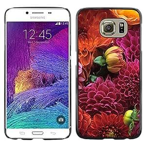 [Neutron-Star] Snap-on Series Teléfono Carcasa Funda Case Caso para Samsung Galaxy S6 [Diseño floral púrpura de Orange]