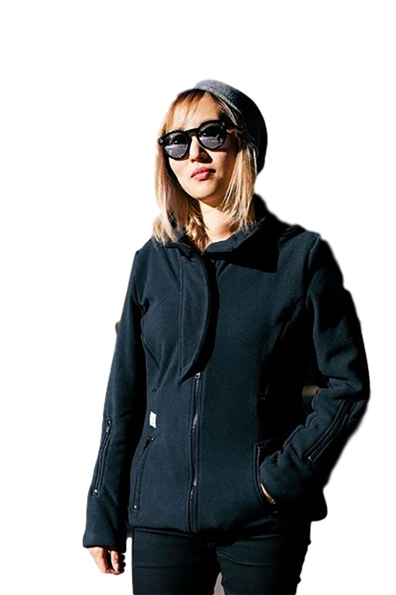 B&me Expandable Womens Coat Designed To Accommodate Baby Sling or Baby Carrier For Women (With Black Sides) (Medium)