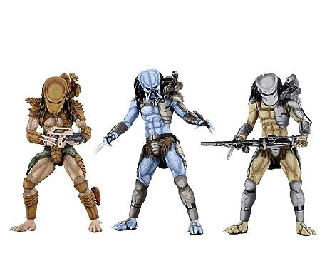 "HUNTER WARRIOR /& MAD PREDATOR Alien vs Predator Arcade 7/"" Figure Set Neca 2018"