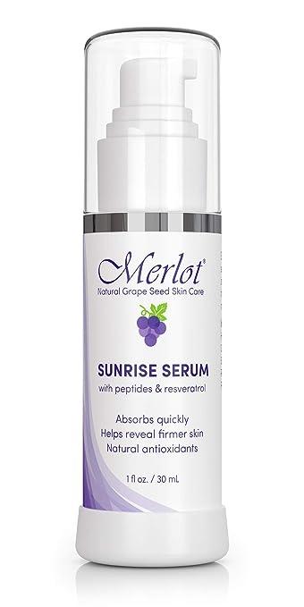 Amazon Com Serum By Merlot Resveratrol Natural Anti Aging Damage Corrector Boost Collagen 1 Fl Oz Dark
