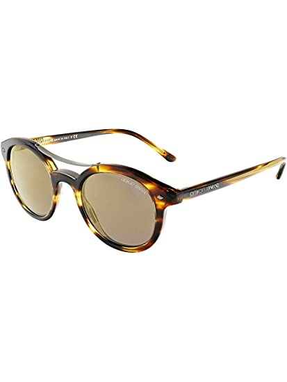 7dfdb4c1af Amazon.com  Giorgio Armani Men s Mirrored AR8007-559003-46 Brown ...