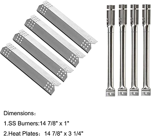 Sunshineey  Parts Kit Stainless Steel Grill Burner Heat Plate for Nexgrill 720