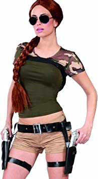 Amakando Sujeción de Pistola Lara Croft Pistolera Doble Cinturón ...