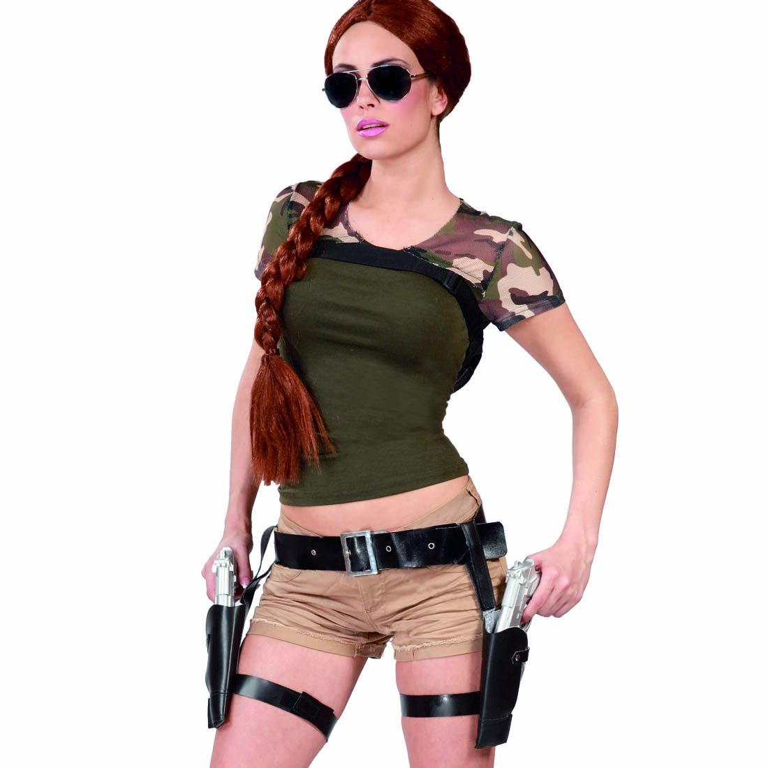 Net Toys Double Gun Holster Lara Croft Holster With Pistols