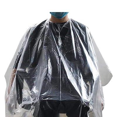Jeash 50PCS Hairdressing Cloth Disposable Waterproof Hair Salon Capes Washing Pads Shampoo Cape Barber Tools Long to Feet: Arts, Crafts & Sewing