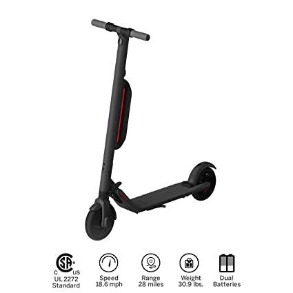 Segway Ninebot ES4 Folding Electric Kick Scooter with Second Battery, Dark  Grey (2018 Version)