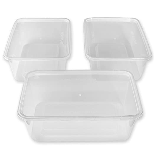Zuvo - Recipiente rectangular de plástico para microondas ...