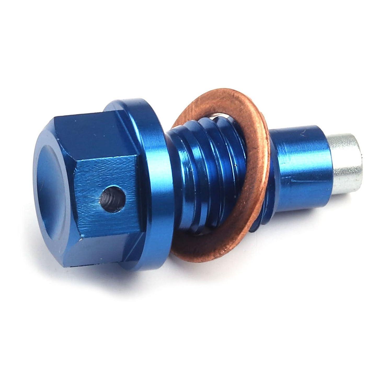 M12x1.5x12 CNC Billet Aluminum Magnetic Oil Drain Plug Bolt Fit For Husqvarna TE TC FE FC 125 250 300 350 450 501 2014-2015 YKLP