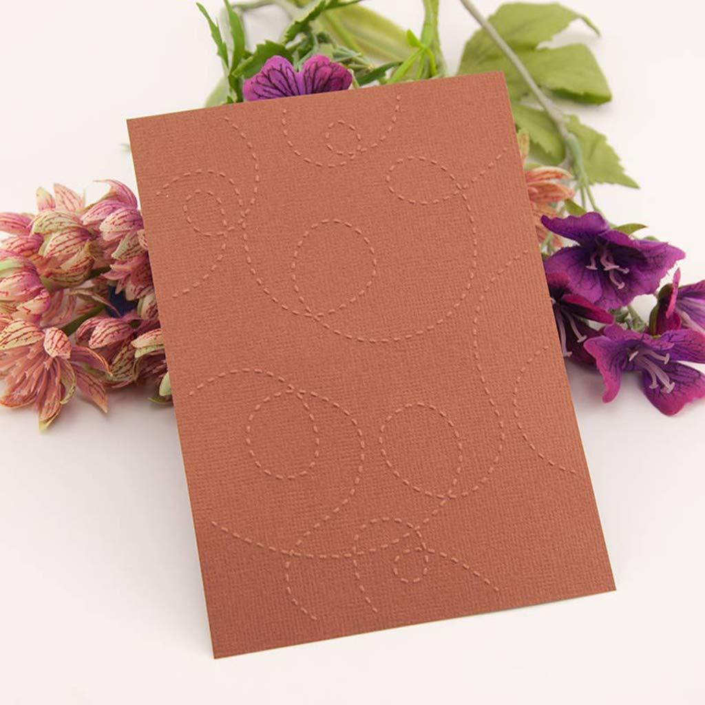 ShapeW Plastic Embossing Folder Template DIY Scrapbook Photo Album Card Dotted Line