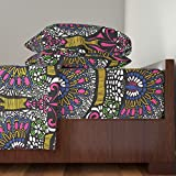 Roostery African 4pc Sheet Set Peacock Colour by Lusykoror King Sheet Set made with