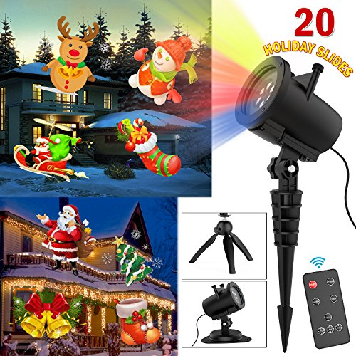 Charming Projector Mild LED with 20 Switchable Patterns Indoor and Out of doors IP65 Waterproof for Ornament Lighting on Halloween Christmas Vacation Celebration