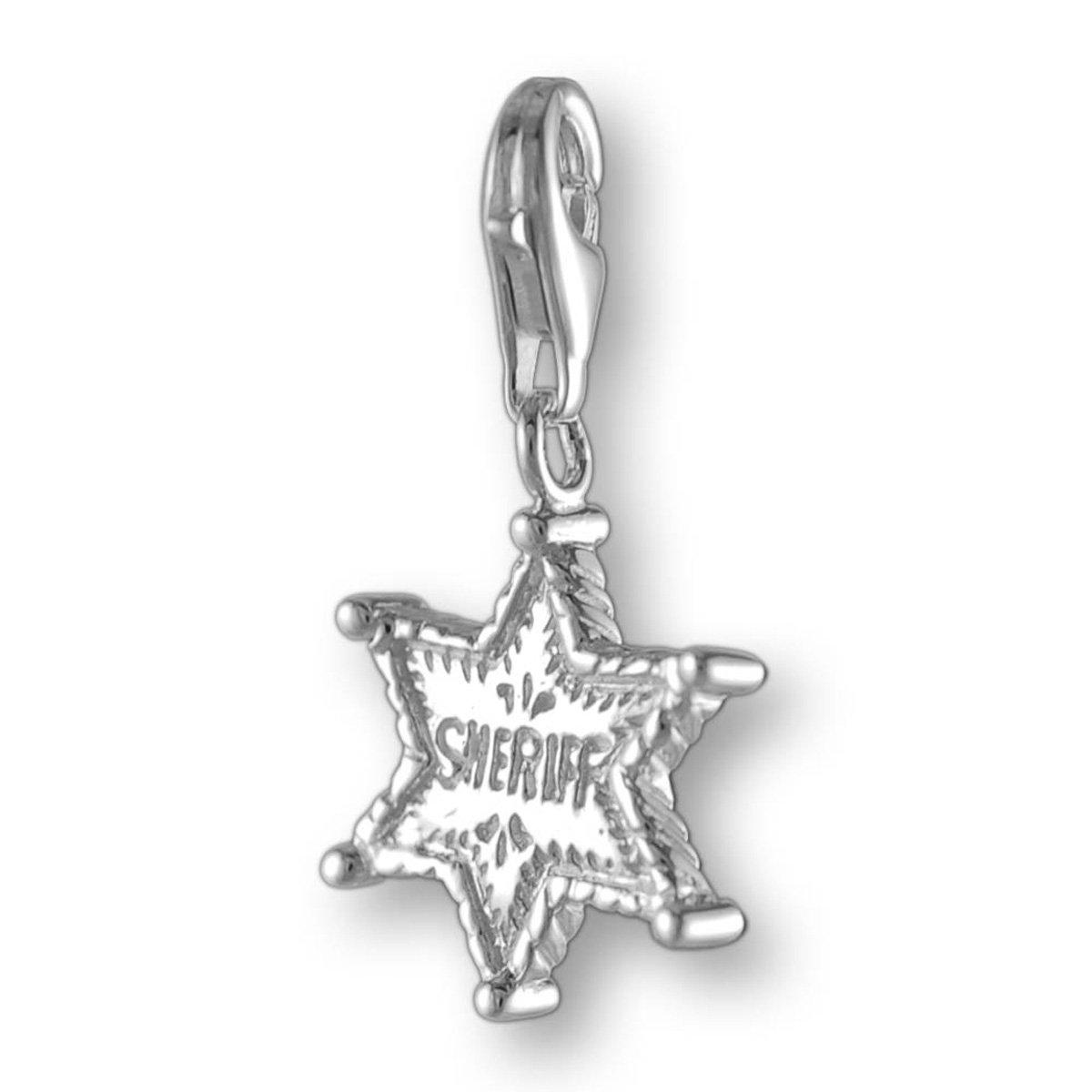 MELINA Charms Pendentif étoile de shérif Argent 925