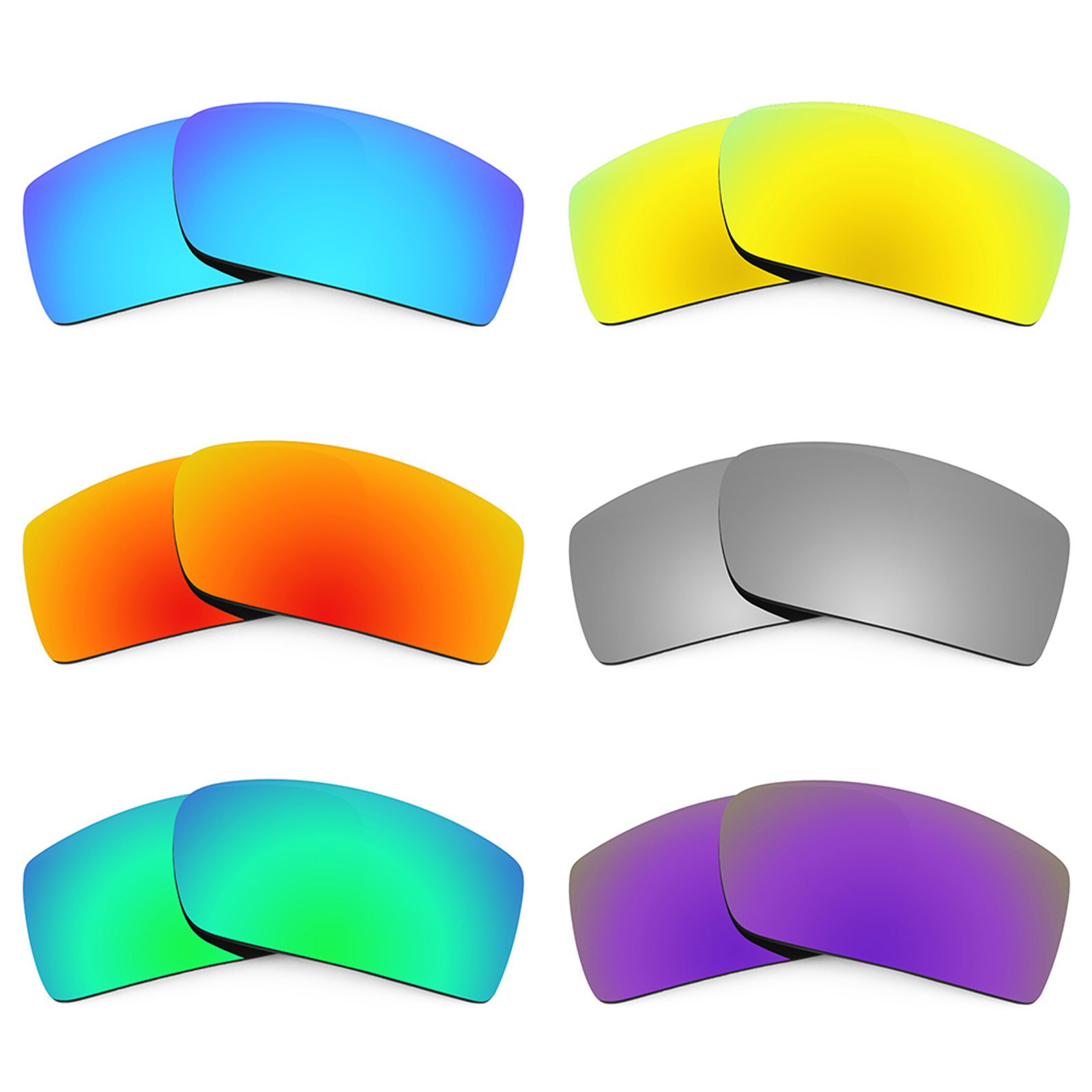 Revant Replacement Lenses for Oakley Gascan 6 Pair Combo Pack K027 by Revant