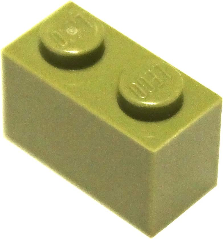 LEGO Parts and Pieces: Olive Green 1x2 Brick x200