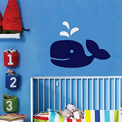 Wall Stickers Art Decor Vinyl Peel and Stick Mural Removable Decals Whale Nautical Nursery Boys Bedroom Sea Ocean Friends Decoration: Home & Kitchen