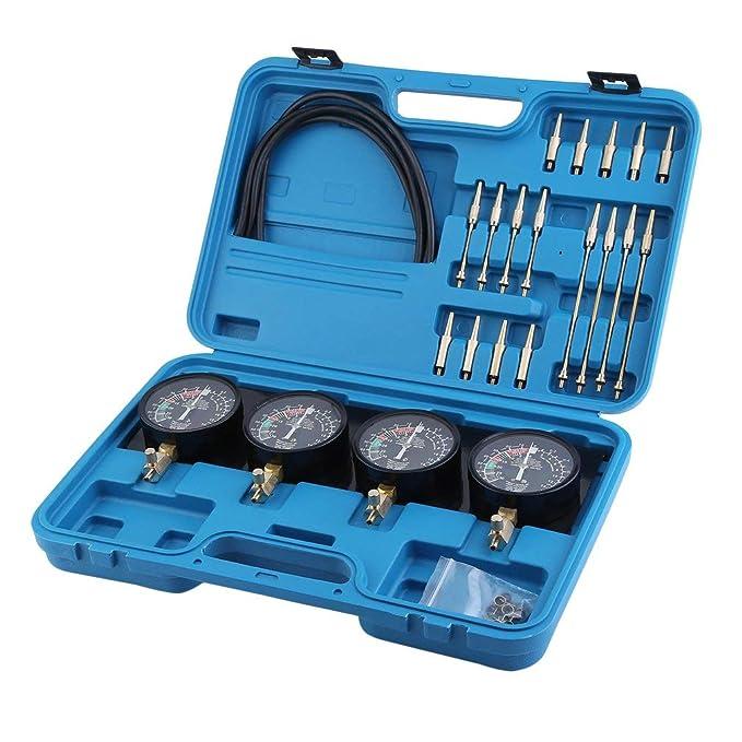 Tester di Compressione per sottovuoto per 4 carburatori Binghotfire Synchrontester Dispositivo di sincronizzazione del carburatore Kit di sintesi per Moto e Auto