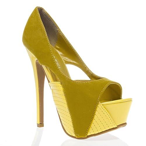 V-Luxury Womens 44-IVRIA02 Open Toe High Heel Stiletto Platform Pump Shoes 6eed4dbc37