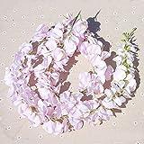 UHBGT 1x120cm String Lot Artificial Flowers Vine Ivy Leaf Garland Floral Home Decor Light Pink