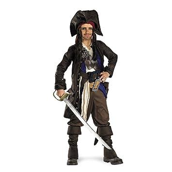 disney pirates of the caribbean captain jack sparrow prestige premium boys costume small4 - Jack Sparrow Halloween Costumes