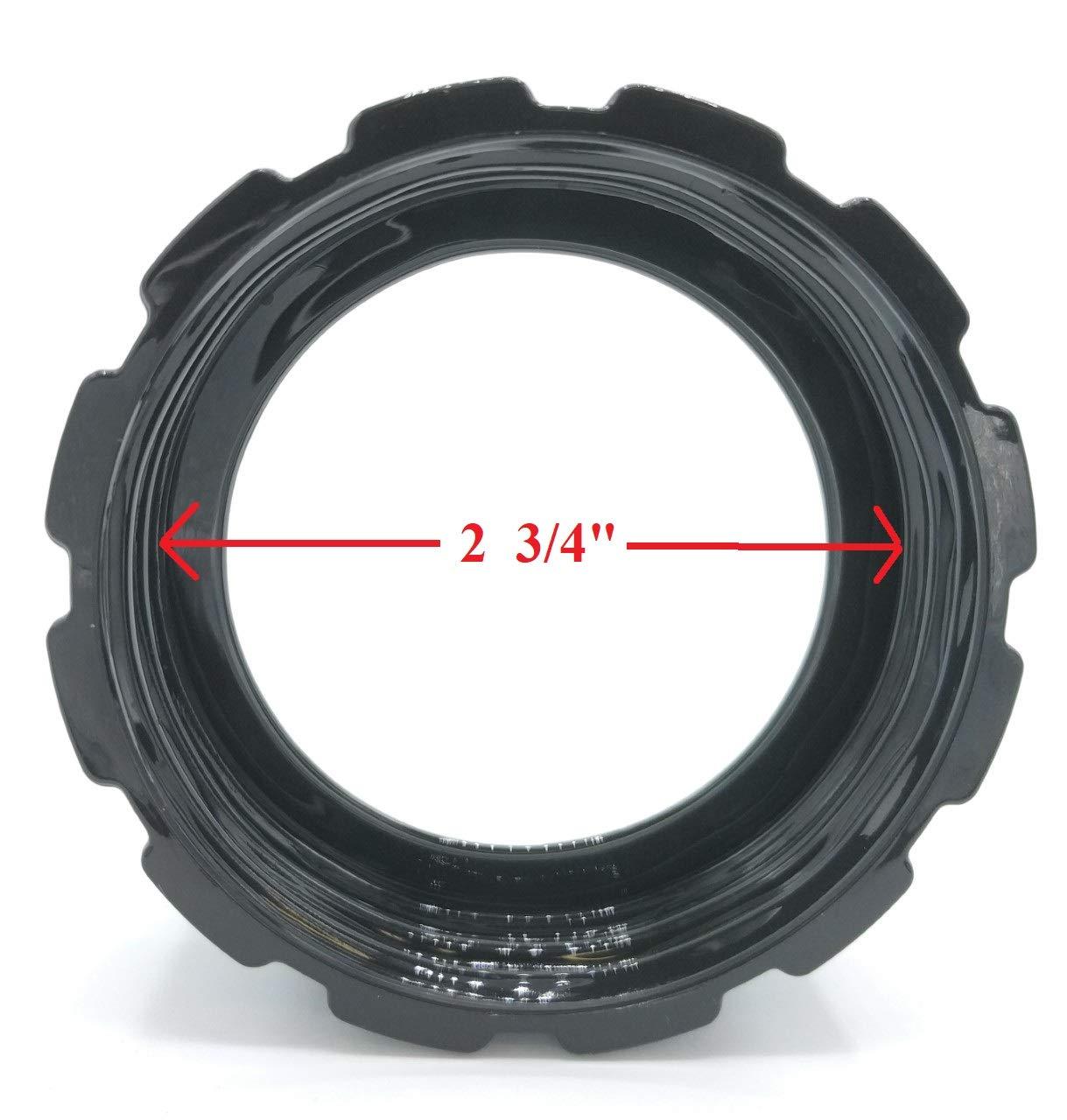 negro compatible con batidoras Hamilton Beach 990035900 909 Tapa de pl/ástico de repuesto para base de anillo inferior Blendin 919 HB908