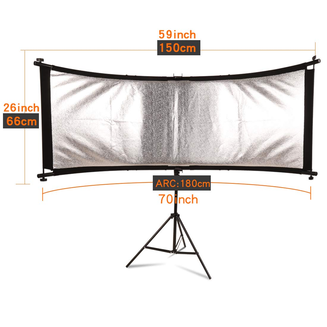 GSKAIWEN 70-Inch(Gold, Silver,) Portable Photography Studio Multi Photo Disc Collapsible Light Reflector (Photography Accessories) (Collapsible) by GSKAIWEN