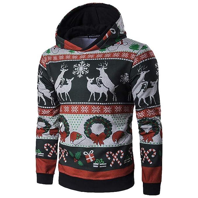 MEIbax Sudaderas con capucha para Hombre Hombres Invierno Navidad Capa Larga Sudadera con Capucha Jersey Outwear Tops Blusa: Amazon.es: Ropa y accesorios