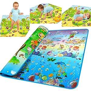Amazon.com: WEICO® Reversible Kids Activity Mat Baby Care