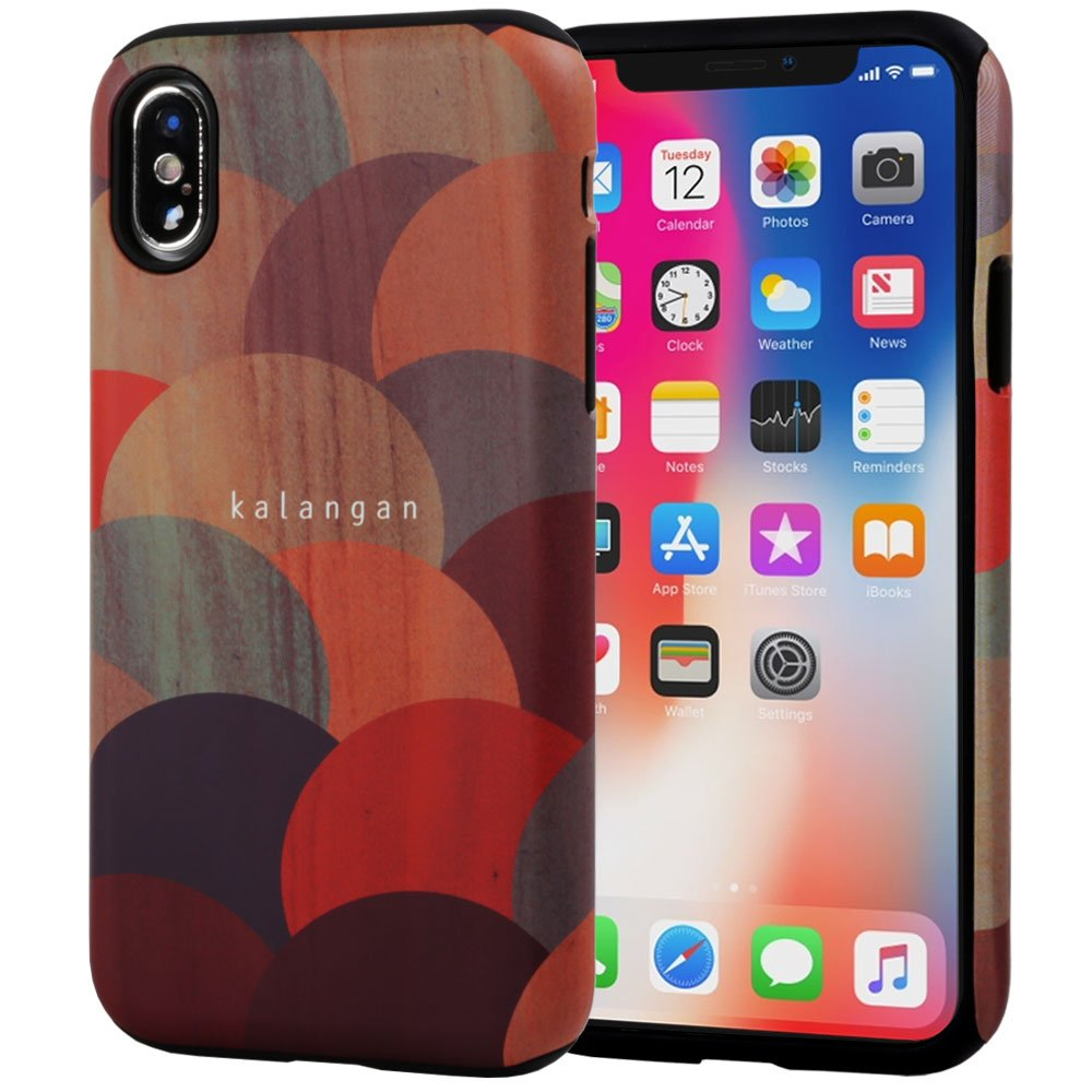 iPhone X Case, SKINU Wood Pattern [Shockproof 2 in 1 Hybrid] Rugged [Heavy Duty Combo] [Dual Layer] High Impact Durable Back Case Cover For iPhone X (2017) - Balloon