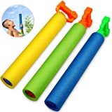 Foam Water Guns Toys,Womdee Water Gun for Kids,3 Pcs Foam Water Pistol Blaster Shooter Pump Outdoor Summer Beach Swimming Pool Party Garden Water Games Toys Gift for Boys Girls Adults