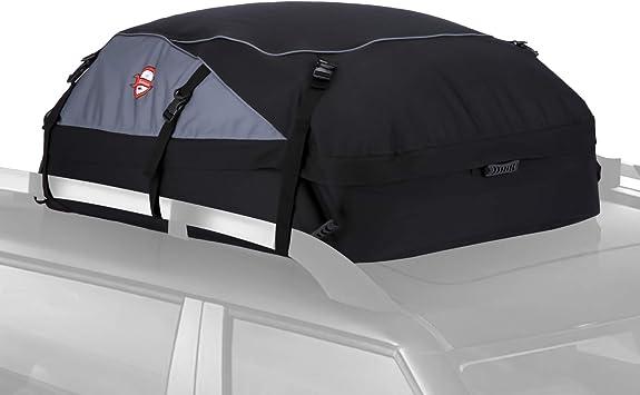 Pujuas Auto Dachbox 580l Faltbare Dachtasche Wasserdicht Auto Dachkoffer Dachboxen Tasche Aufbewahrungsbox Für Reise Und Gepäcktransport Schwarz Auto