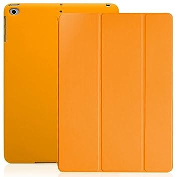 KHOMO Funda iPad 9.7 2018 y 2017 (5ta y 6ta Generación) Carcasa Ultra Delgada y Ligera con Smart Cover Apple iPad 9,7 2017 y 2018 - Naranja