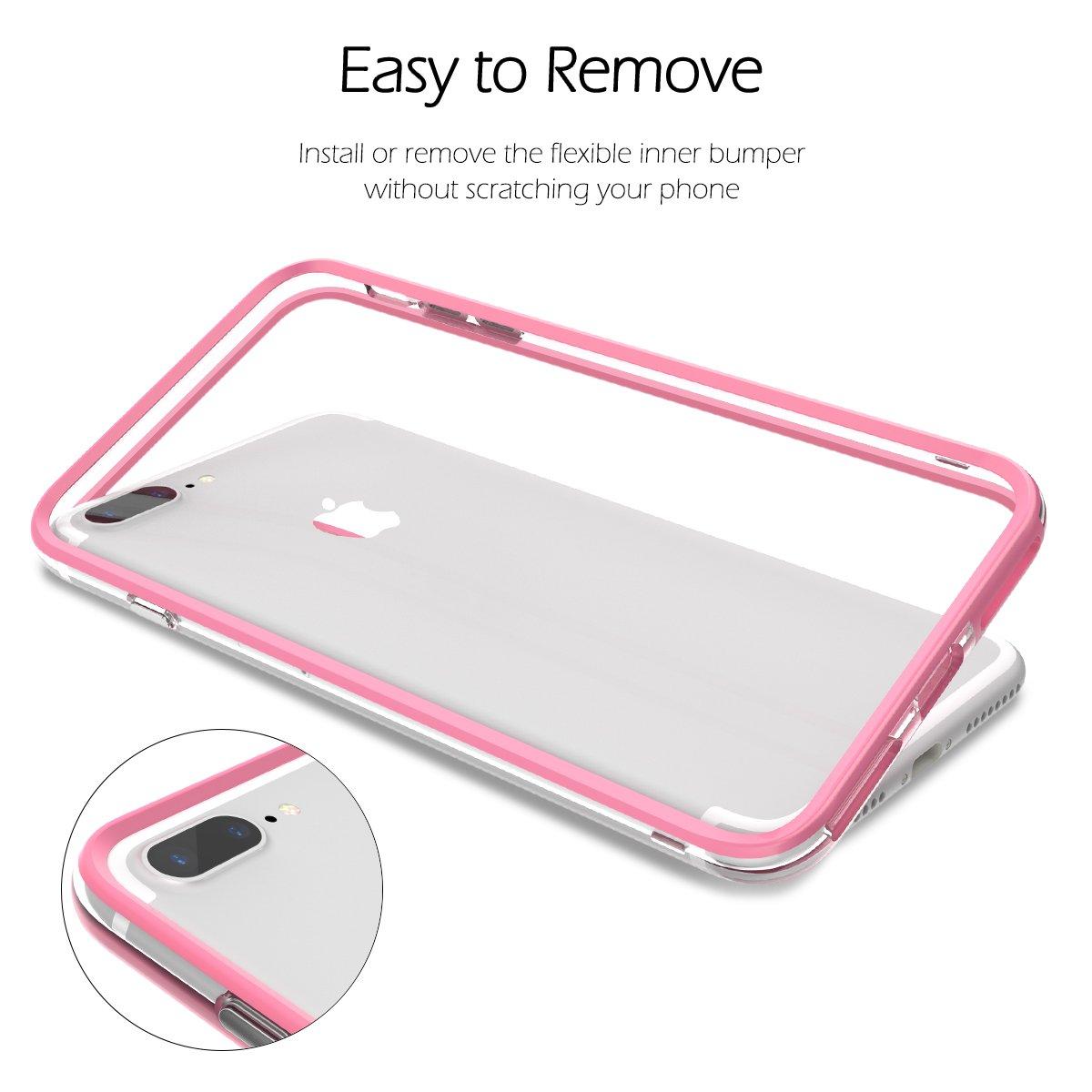 Gr/ün CE-Link iPhone 7 Plus H/ülle iPhone 8 Plus H/ülle Hard Handyh/ülle Ultra Slim D/ünn Bumper mit Innerem Silikon Schutz Schutzh/ülle Protective Sto/ßfest Hart PC Cover
