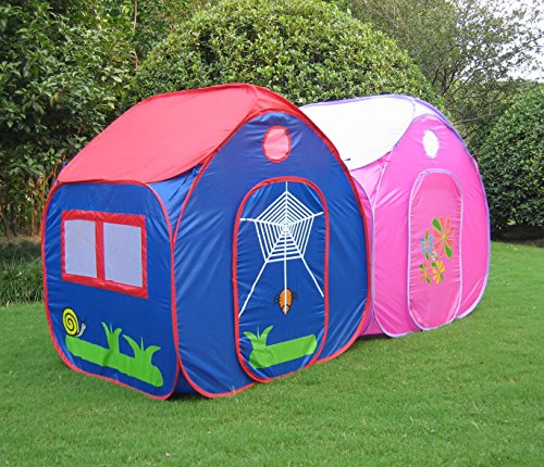 greeco kids pop up tent play house tent 4 x 345 x 345 feet extra large castle kids fun forts. Black Bedroom Furniture Sets. Home Design Ideas