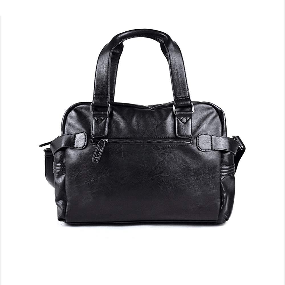 HTMAL Rucksack Tasche Handtasche Herrentasche Freizeitreisetasche Koreanische Version des Gezeitengeschäfts Herren Umhängetasche Umhängetasche Sehr klassische Tasche Kundenspezifisches Leder Winterfro  L