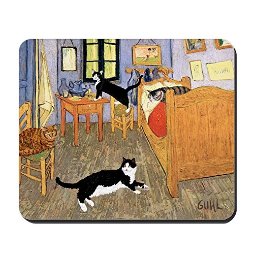 CafePress - Vincent's CATS - Non-slip Rubber Mousepad, Gaming Mouse Pad