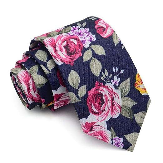 Corbata para Hombre Floral de algodón Estampado Corbata ...