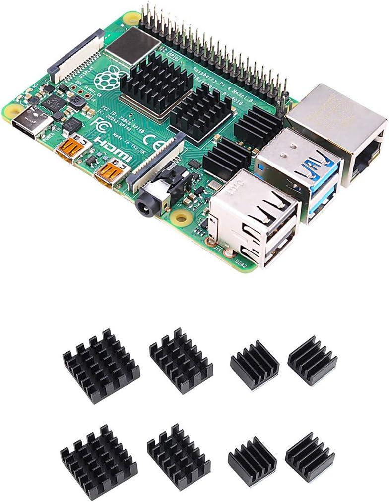 LK04 6 Heatsinks Longruner 2-Pack Performance Heat sink Set for Raspberry Pi Aluminum Heatsink