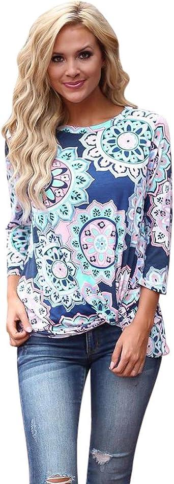 Camisetas Mujer Manga Corta Originales Ronamick Comfort Blusa Mujer Tops Plateados Comfort Camisa Hombre Blanca (Azul,S): Amazon.es: Iluminación