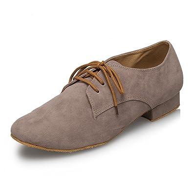 a1eb8f48d1458 Miyoopark Men s Modern Heel Brown Suede Dance Shoes 7 ...