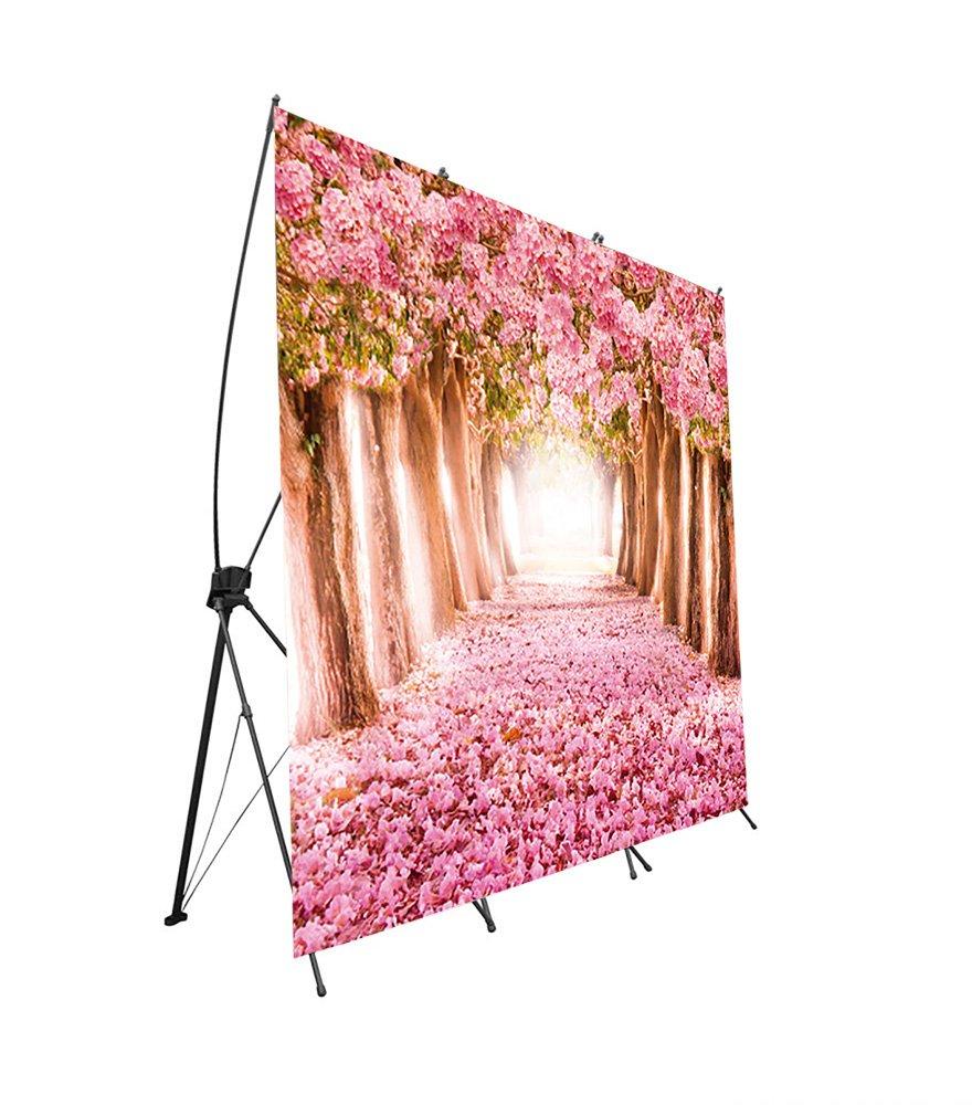 Photocall flexible Bodas 100/% personalizado Camino flores Rosas talla XXL con soporte X 160x200 Montados sobre Banners con soporte X de gran calidad Expositor publicitario fabricado en lona alta calidad impresa a todo color 1 cara con ollados f/á
