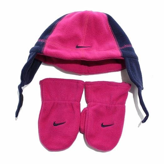 2450f704f7711 Nike Swoosh Logo Toddler Girl s Fleece Beanie Hat   Mittens Set (Toddler -  2