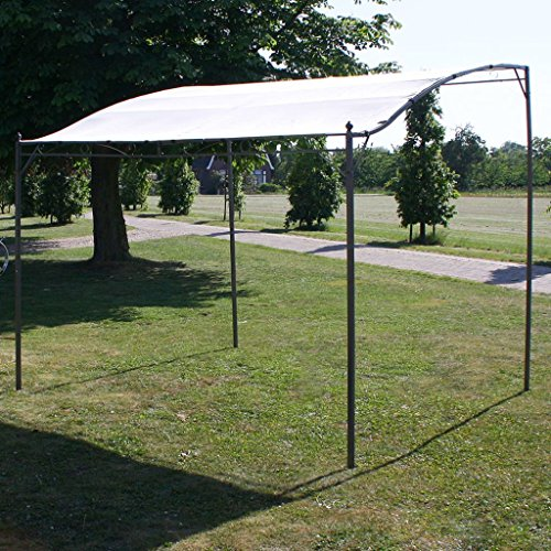 Festnight Outdoor Patio Canopy Gazebo Sunshade Fabric Cream White