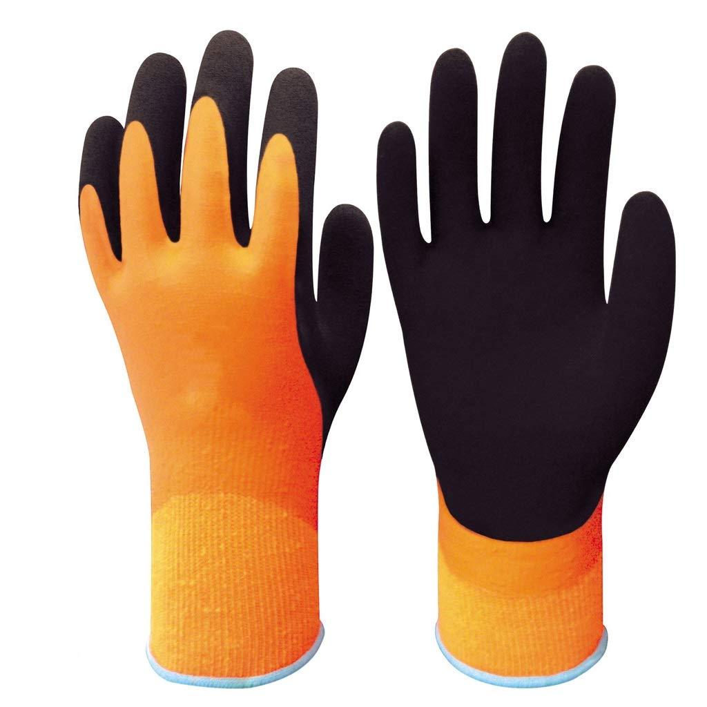 RYYAIYL Waterproof Cotton Gloves Nylon Latex Foam Coated Work Gloves Non-Slip Thickening Cold Winter Warm Gloves(1pairs) by RYYAIYL